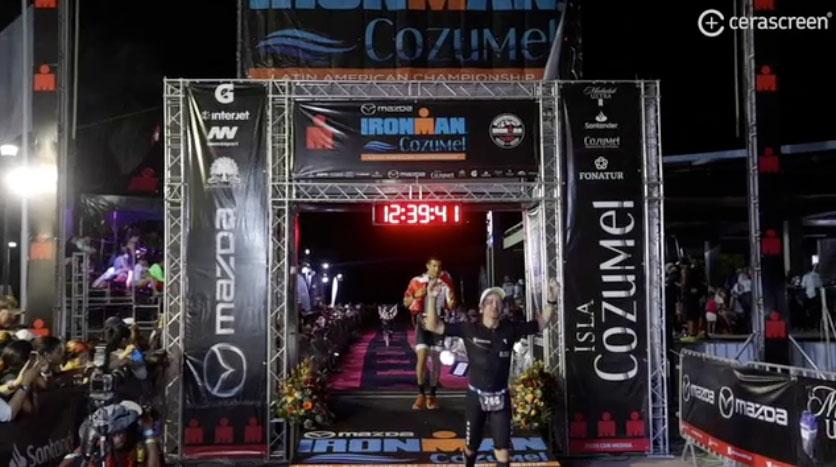 Dr. González unter den Top 30% AK beim Ironman Cozumel in Mexiko